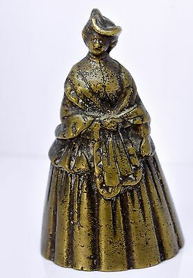Antique Brass Lady Bell