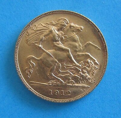 1912 King George V -  Gold Half Sovereign 22 CT - Collectable - Bullion  (Lot B)