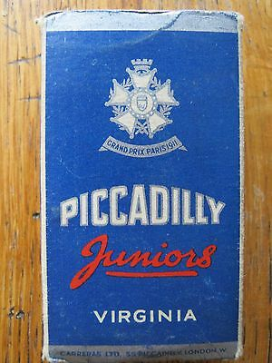 Cigarette Packet Piccadilly Juniors ( For 10 Cigarettes ) Carreras Ltd
