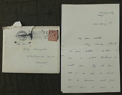 (Q) Letter, 1926 ( General Strike ) London, to - Whitbourne Court, Worcester