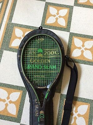 Very Rare Tennis Racquet Dunlop Max 200G Golden Grand Slam Edition