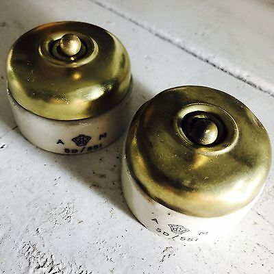2no Air Ministry Toggle Switches / Light Switches / Dolly Switches