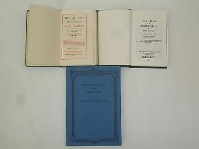 3 Masonic Books The Lectures 1963 & 1974 Five Minute Talks On Freemasonary