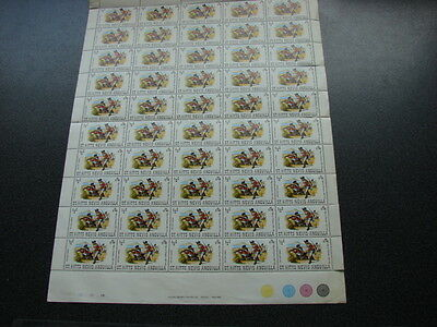 St Christopher,Nevis,Anguilla 1971 ½c Siege Soldiers COMPLETE MNH SHEET SG 244