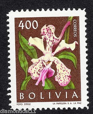 1962 Bolivia 400b Flowers SG738 Mounted Mint R16153
