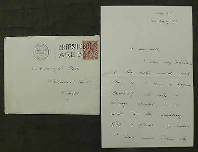(R) Letter, 1926 ( General Strike ) London, to - Whitbourne Court, Worcester