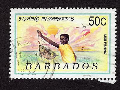 1991 Barbados 50c Line fishing SG953 FINE USED R32224