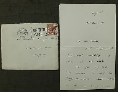 (S) Letter, 1926 ( General Strike ) London, to - Whitbourne Court, Worcester