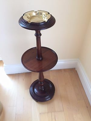 Pedestal Ashtray stand with brass ashtray