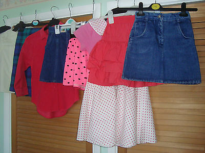 "Bundle Of ""1980's"" Vintage / Retro Girls Clothes Age 6-7 Years 9 Items Vgc"