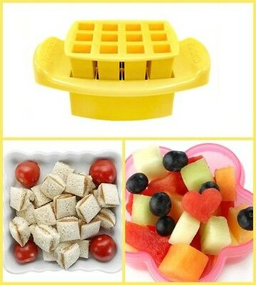 Food Sandwich Cutter, Yellow Squares Bite Sized Chopper By FunBites