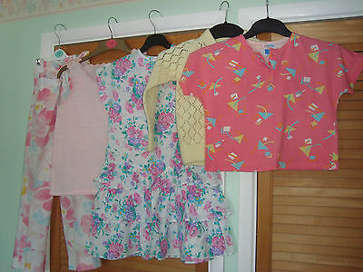 """Bundle Of """"1980's"""" Vintage / Retro Girls Clothes Age 7-9 Years 5 Items Ex Con"""