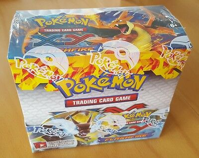 Pokemon XY Flashfire Factory Sealed Booster Box of 36 packs! Mint Condition!