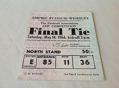 1966 Fa Cup Final Ticket Stub ~ Everton V Sheffield Wednesday