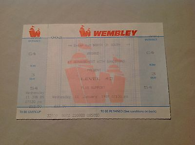 ** Level 42 Concert Ticket ~ Unused ~ Wembley Arena 1989 **