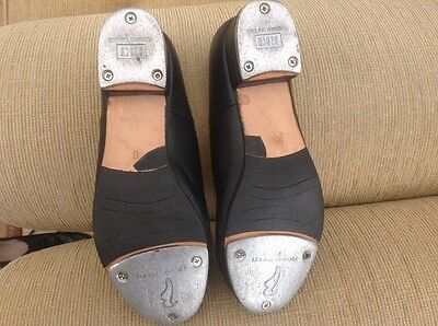 black leather tap shoes