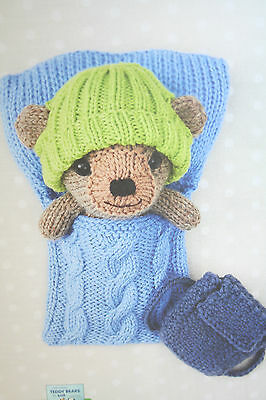 Teddy Bear and Rucksack Toy Knitting Pattern