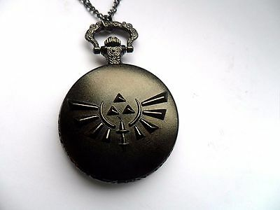 Stunning Legend Of Zelda Link  Black  Necklace Watch
