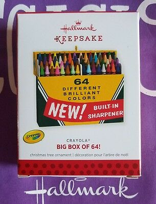 Hallmark 2013 Christmas Ornament Crayola Big Box Of 64 Crayons Nib