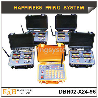 hot sale 96 cues remote& wire control fireworks firing system, 2400 cues remote