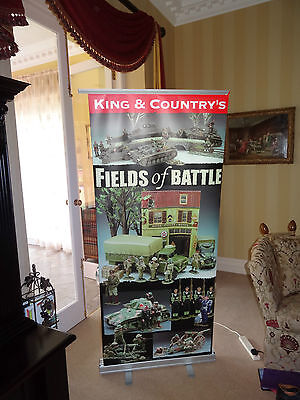KING AND COUNTRY U.K. - Advertising Soldier Show Banner  -FIELD OF BATTLE 1940