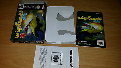 Wipeout Wipe Out Nintendo 64 N64 PAL nur Anleitung Box Manual only