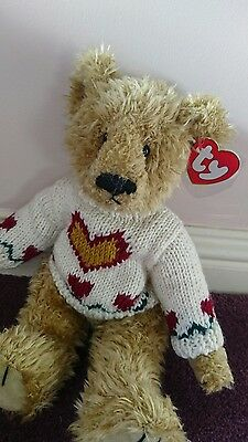 """Ty Attic Treasures Collection Heartley Bear. New with Tags. 12 """""""