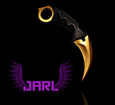 Couteau Karambit CS GO - Gold - By JARL (CSGO KNIFE GAMING)