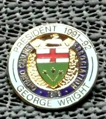 Ontario Curing Association President 1991-92 George Wright