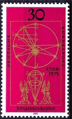 Germany 1971 Kepler Motion of Planet Mathematics Astronomy Astrology Science MNH