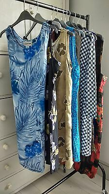 10 x Vintage 80s 90s Dresses Tunics Wholesale Job Lot Mix Styles Sizes 8-14
