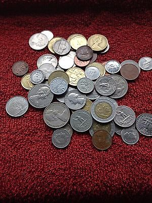 Lovely Collection Of Foreign Coins,usa,australia,arab Etc