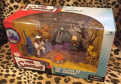 2006 McFARLANE TOYS THE SIMPSONS THE ISLAND OF DR.HIBBERT DELUXE BOXED SET!!!