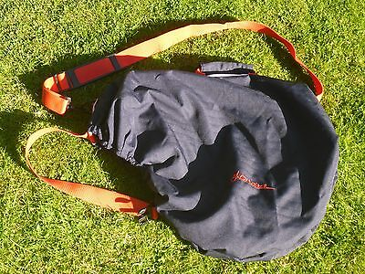 John Whitaker Saddle Carrier Cover Bag Navy Blue Red Very Good Condition