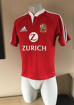 Vintage ADIDAS British Lions Home Rugby Shirt New Zealand 2005 Size Xtra Small