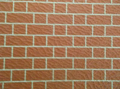 Dolls House Embossed  Red Brick  Wallpaper