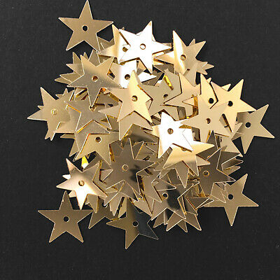 500 x Flat Sequin Stars - 15 mm.  3 colours available.