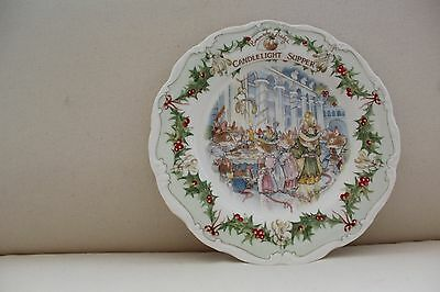 Royal Doulton Brambly Hedge Plate - Candlelight Supper - 1986 - Unboxed