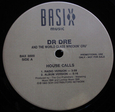 Dr. Dre And The World Class Wreckin' Cru - House Calls 1993 version  (Sealed)