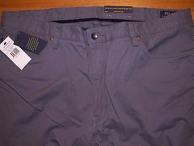 "mens ralph lauren polo ""stretch slim straight fit"" trousers chinos W40 L34"