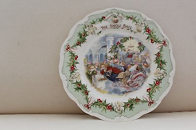 Royal Doulton Brambly Hedge Plate - The Snow Ball - 1984 - Unboxed