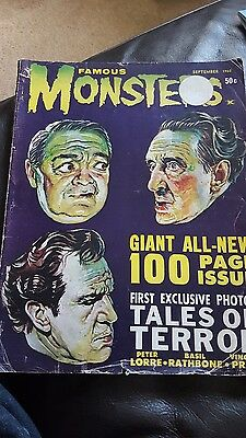 FAMOUS MONSTERS OF FILMLAND magazine September 1962 vol4 no4