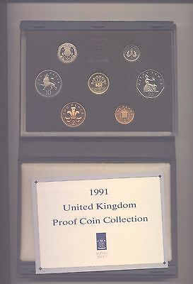 1991 Proof Set Of Coins  Complete With Coa In Blue Case