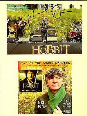 The Hobbit Unexpected signed 8x10 Neil Finn Crowded House