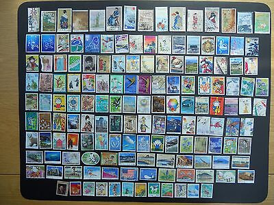 Japan stamps. 150 diff pictorials kiloware used off paper incl prefectures. 198