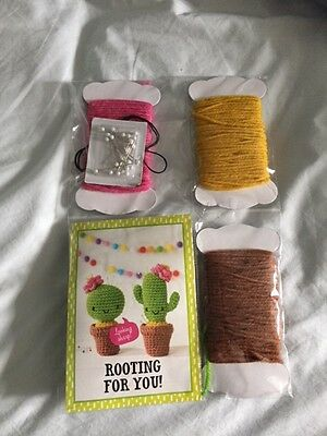Cactus Pin Cushion Crochet Kit