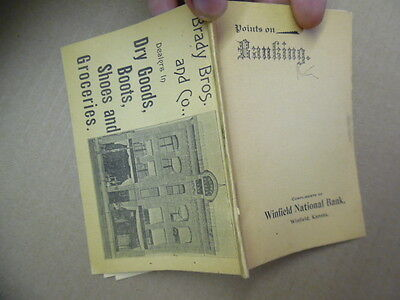 1897 Winfield National Bank Points on Banking Antique Advertising Booklet Kansas