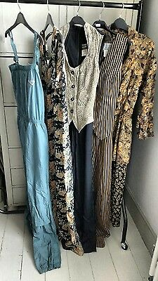 5 x Vintage 80s 90s Jumpsuits Wholesale Job Lot Print Mix Summer 8-14