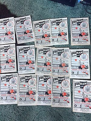 25 Fulham football programmes 1955-1966