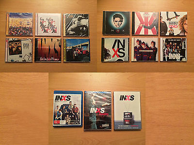 INXS MICHAEL HUTCHENCE MAX Q BULK COLLECTION OF CD's, DVD's VHS AND BLU-RAY